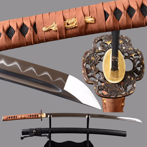 Ishikawa Clay Tempered Carbon Steel Katana Samurai Sword