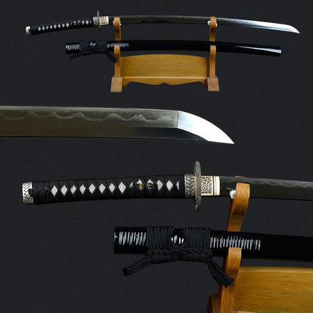 Koga Clay Tempered Folded Steel Katana Samurai Sword