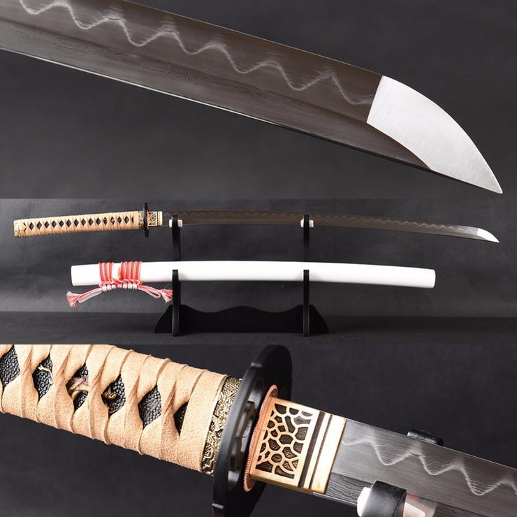 Nobunaga Clay Tempered Folded Katana Samurai Sword