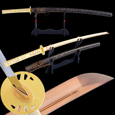 Someina Clay Tempered Carbon Steel Katana Samurai Sword