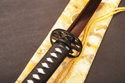 Qing Folded Red Steel Katana Samurai Sword