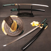 Isra Clay Tempered Folded Steel Katana Samurai Sword