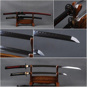 Kiyoko Clay Tempered Carbon Steel Samurai Sword Set