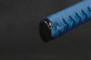 Blue Blade Samurai Katana - High Carbon Steel with Dragon Sheath
