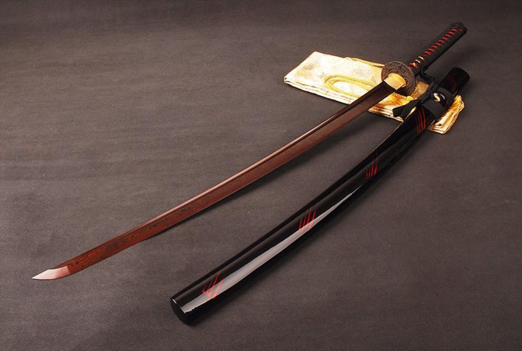 Ruolan Folded Red Steel Katana Samurai Sword