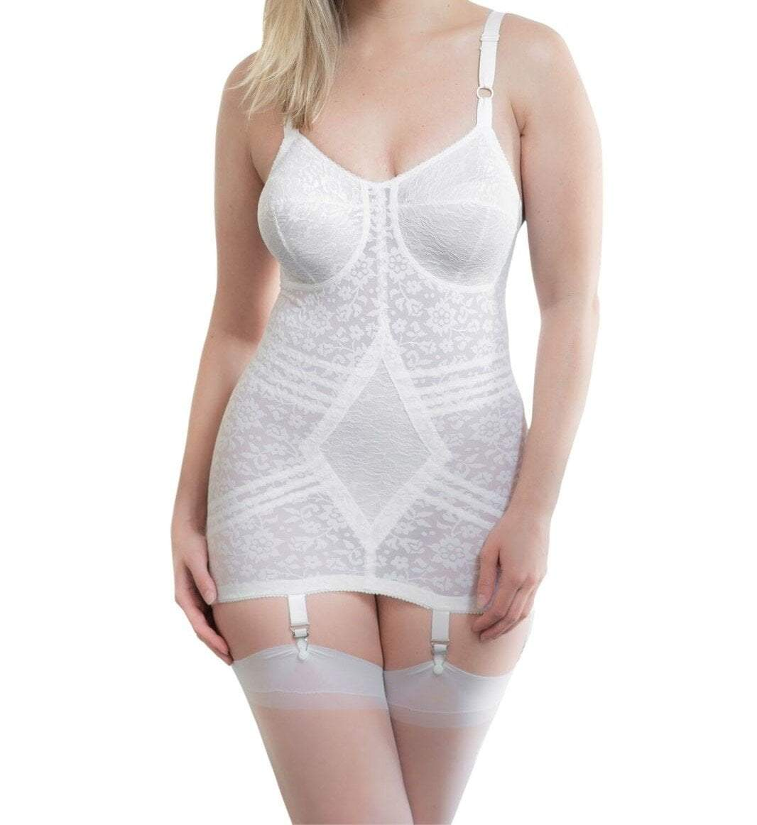 e70bf838225 RAGO Style 9357 - Body Briefer Extra Firm Shaping - White – American ...