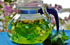 For brewing tea, which herbs are better to use fresh rather than dried?