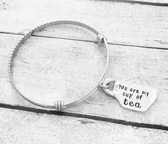 Youre my cup of tea - Hand stamped bracelet - Best - Tao Te Tea Premium Whole Leaf Tea