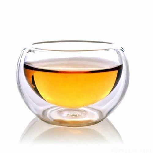 Elegant Heat Resistant Double Wall Cup | For Tea, Whisky, and Wine