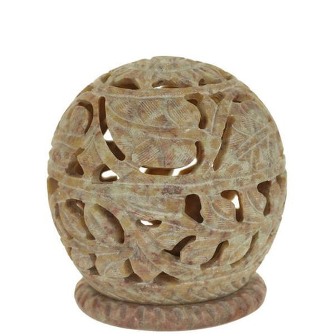 Prabhuji's Burner for Cones and Tea Candle Holder | Leaf Pattern