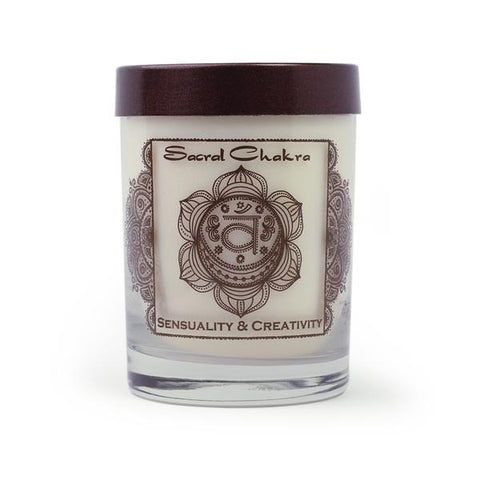 Soy Candle for Sacral Chakra Svadhishthana Meditation | Made With Vanilla Essential Oil for Sensuality and Creativity - Tao Te Tea Premium Whole Leaf Tea
