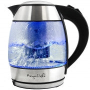 Glass Body Electric Tea Kettle with Tea Infuser | MegaChef 1.8 Lt. - Tao Te Tea Premium Whole Leaf Tea