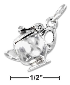 Sterling Silver Teapot Charm With Opening Lid - Tao Te Tea Premium Whole Leaf Tea
