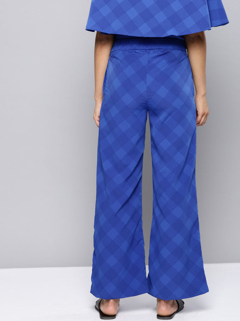 Relaxed Loose Fit Checked Parallel Trousers