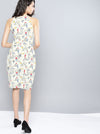 White Printed Sheath Dress