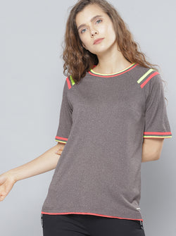 Grey Solid T-shirt