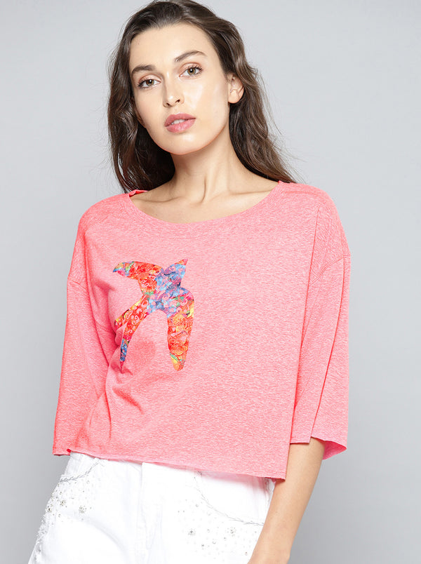 Coral Pink Solid Top