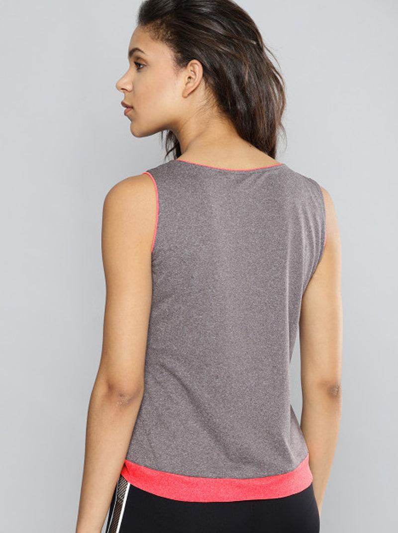 Taupe Solid High-Low Crop Top