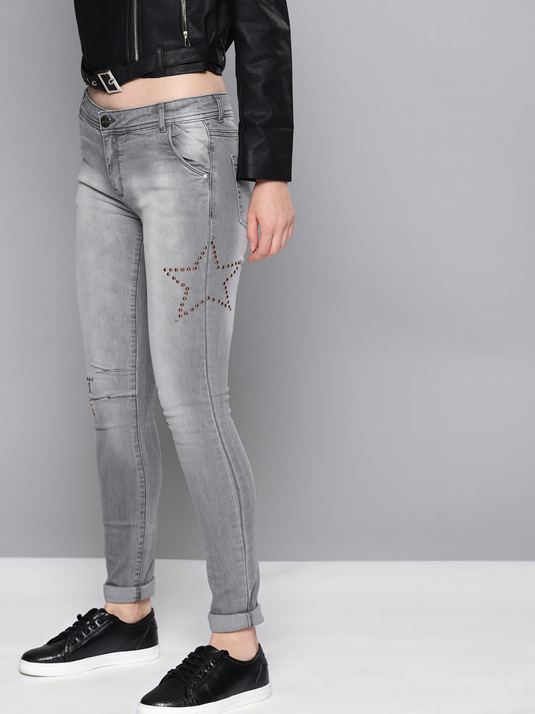 Regular Fit Mid-Rise Clean Look Stretchable Jeans