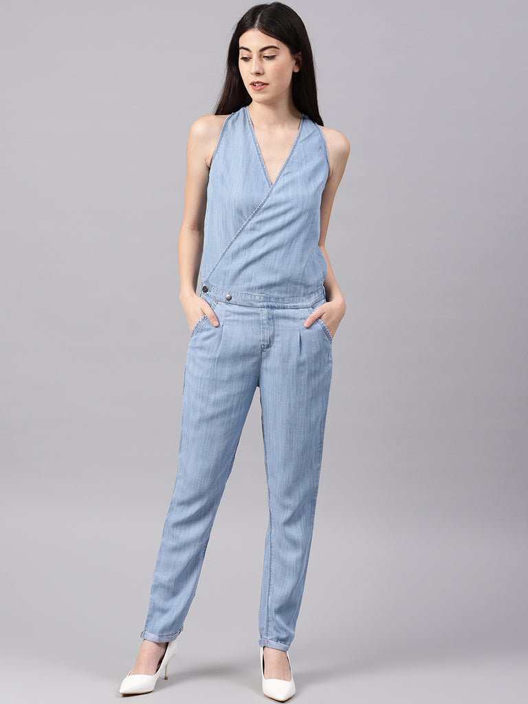 Front Overlaping Jump Suit
