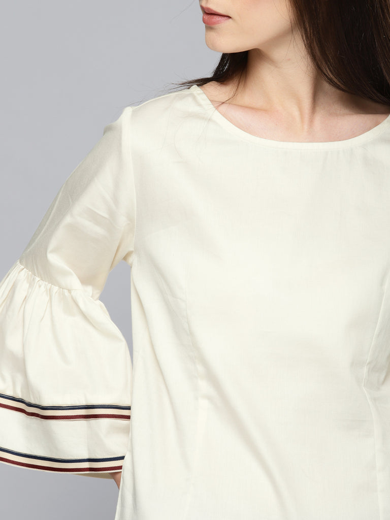 BELL SLV TOP WITH TAPE DETAIL