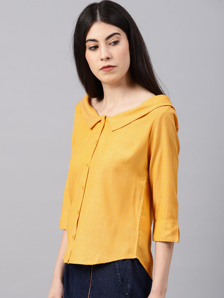 Collar Neck Top