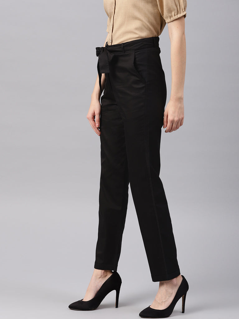 Narrow Bottom Belted Waist