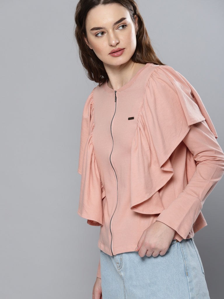 RUFFLE FULL SLEEVE TOP