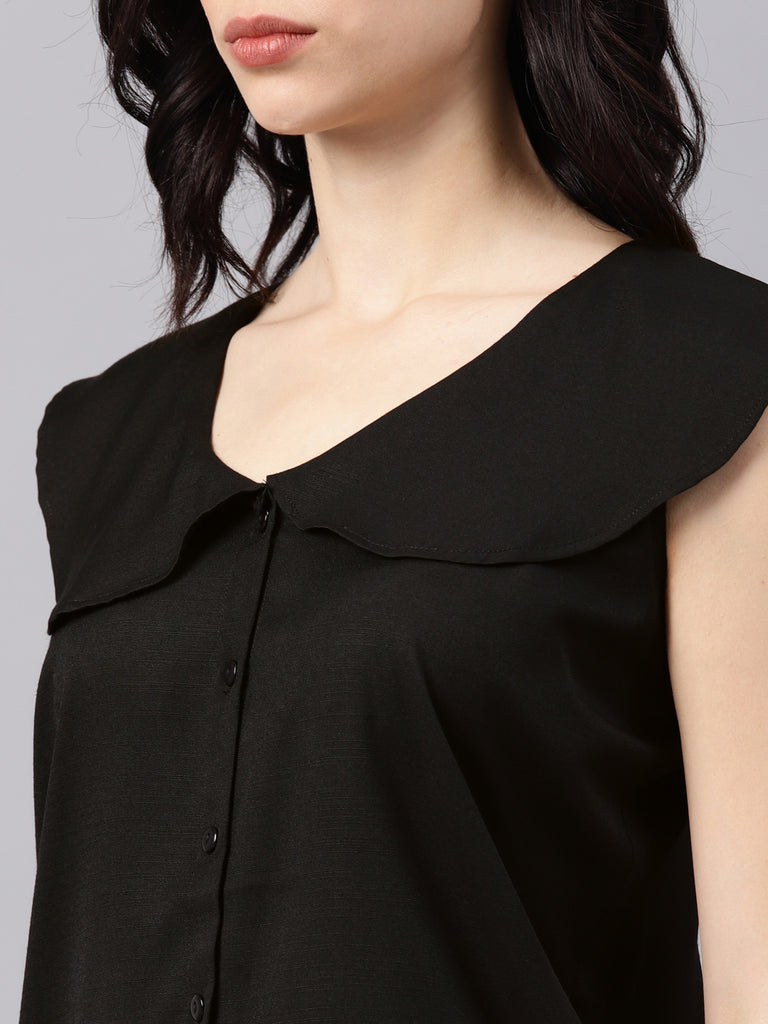Ruffled Neck Top