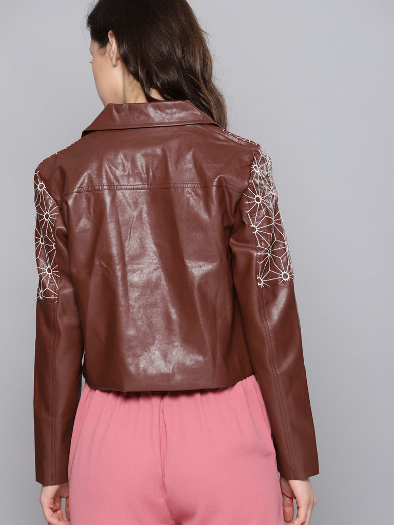 Solid Biker Jacket
