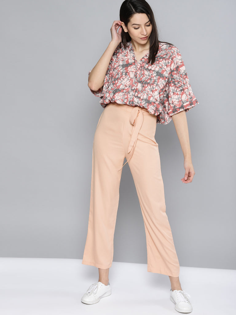 Regular Fit Solid Regular Trousers