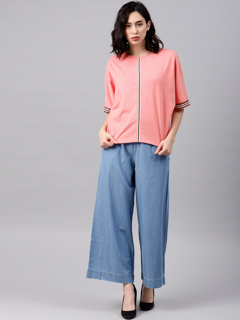 BATWING TOP WITH WIDE CUFF