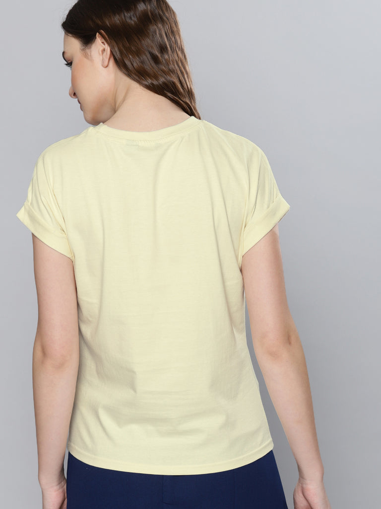 Rubber Printed Round Neck T-Shirt
