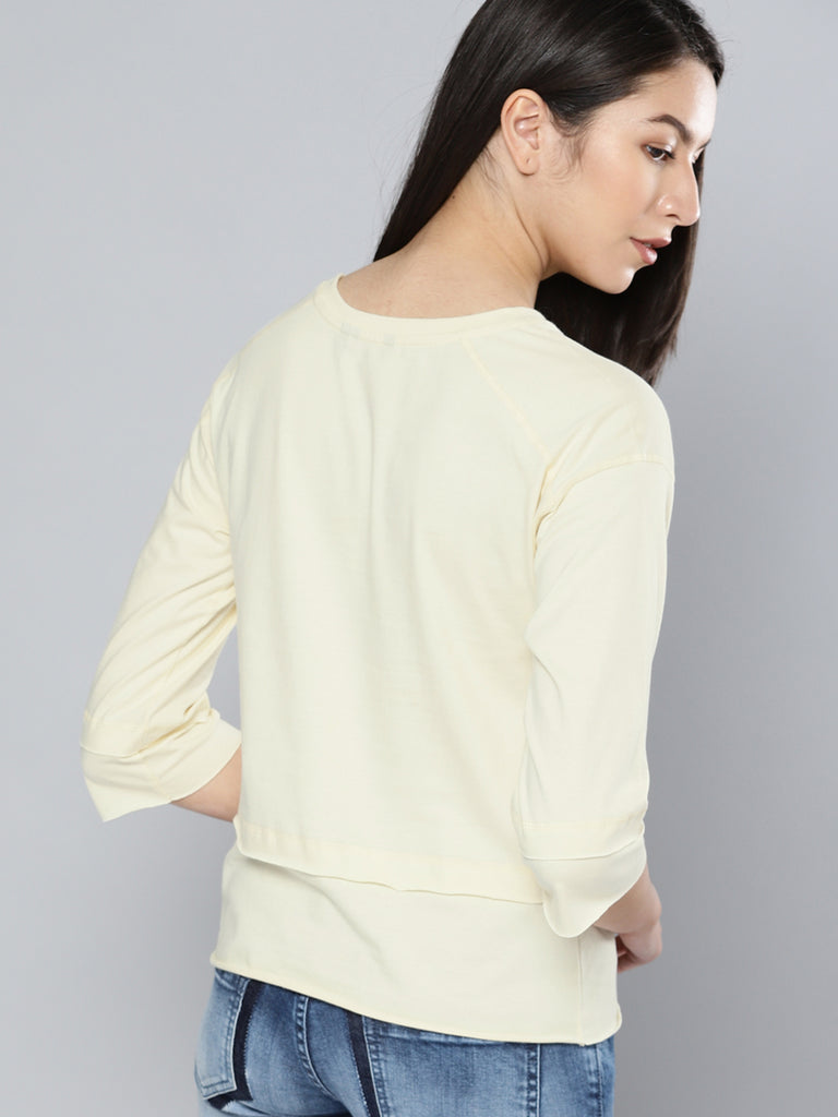 Off-Printed Round Neck T-Shirt