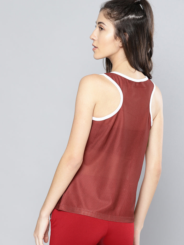 MESH SLEEVE LESS TOP