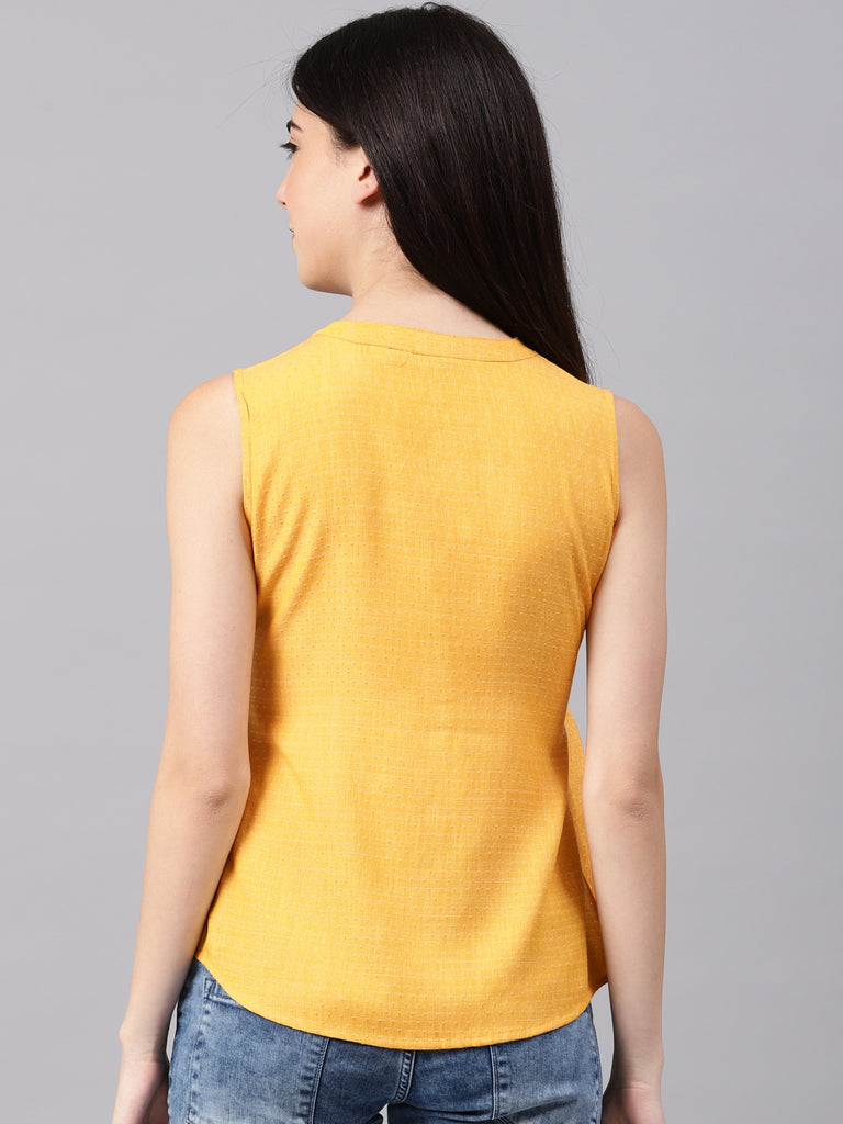 Sleeveless Top With Placket