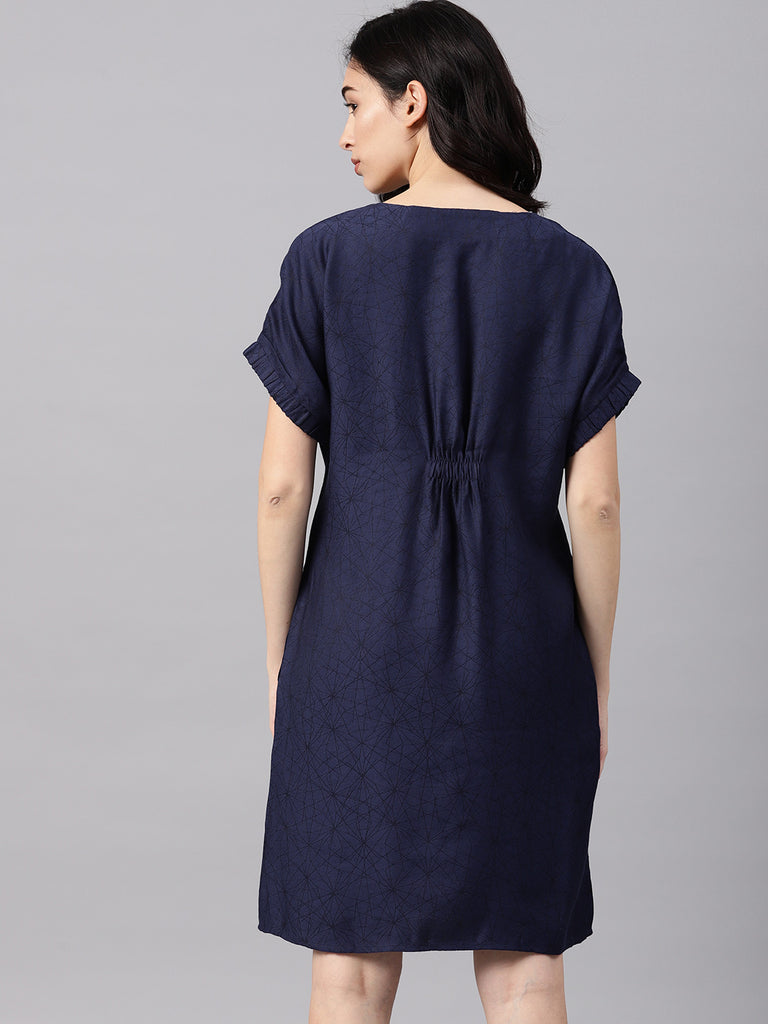 EXTENDED SHOULDER DRESS