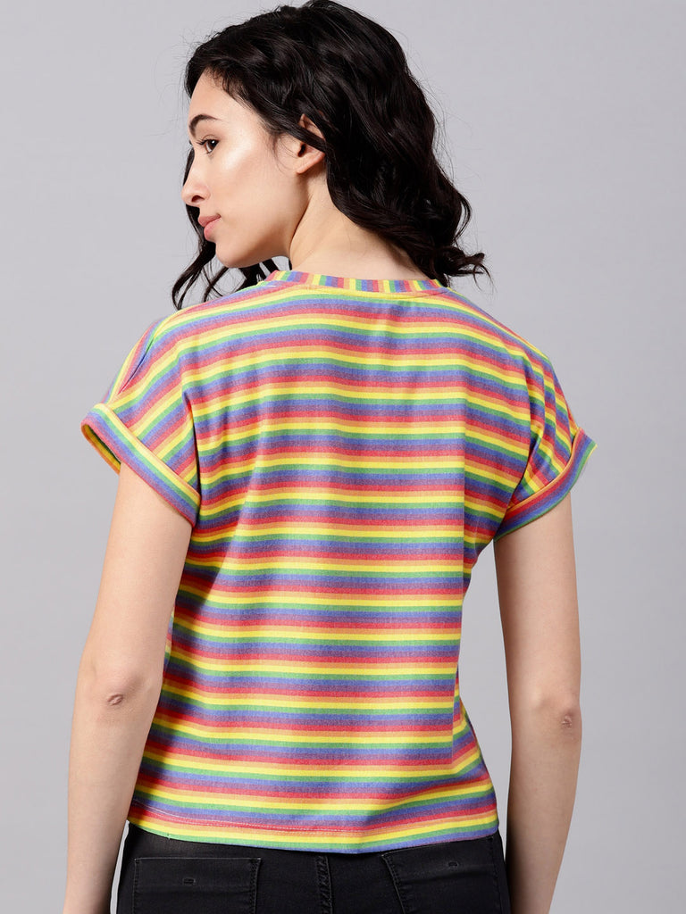 Extended Shoulder Stripe Tee