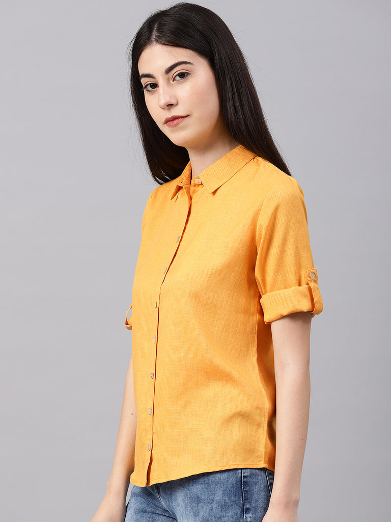 Back Overlap Shirt With Collar