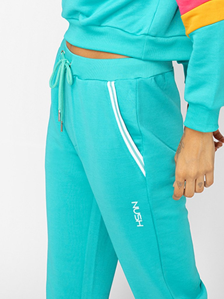 Sea Green Joggers with Drawstring