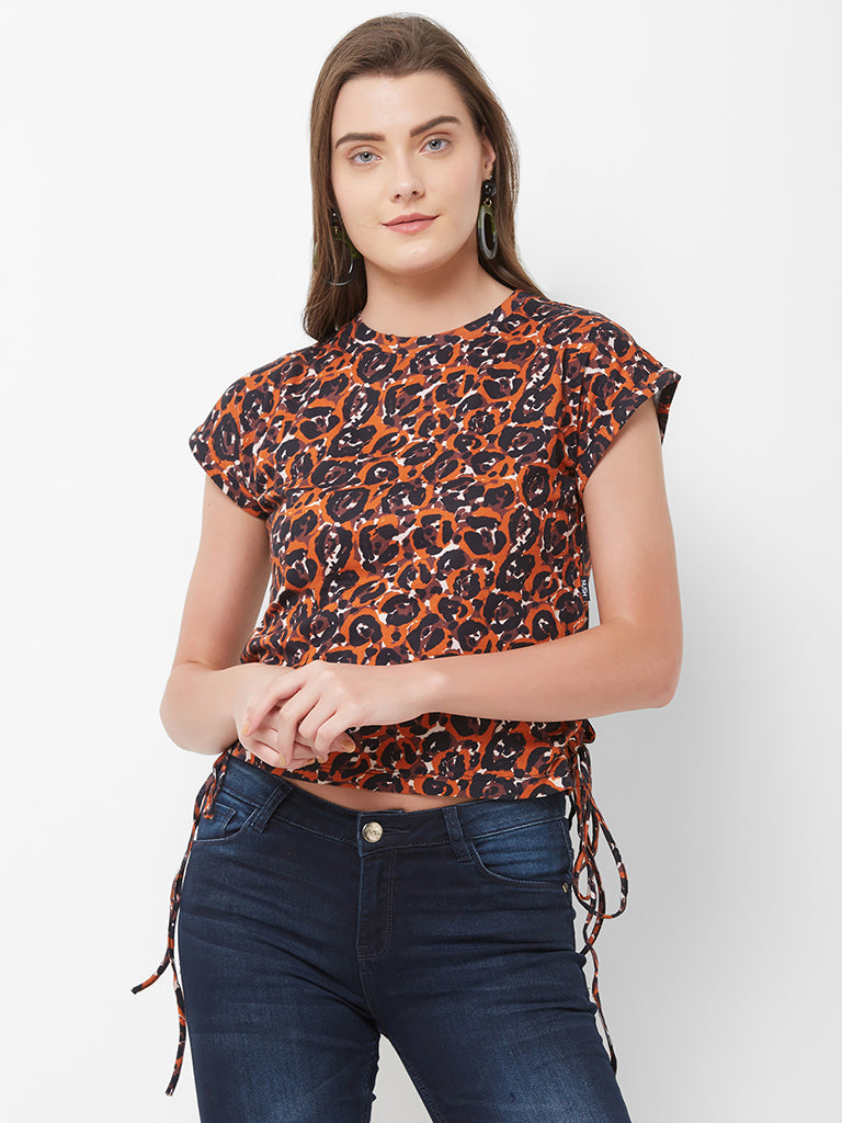 SLEEVELESS TOP WITH EYELET DETAIL