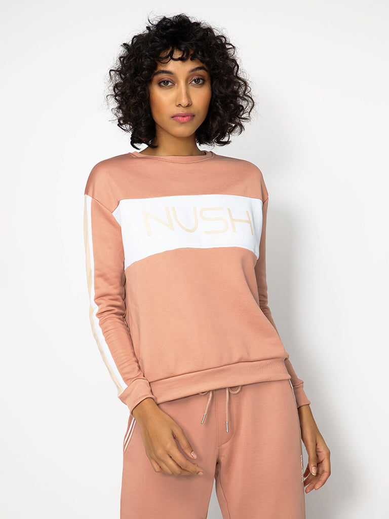 Brown Logo Print Sweatshirt