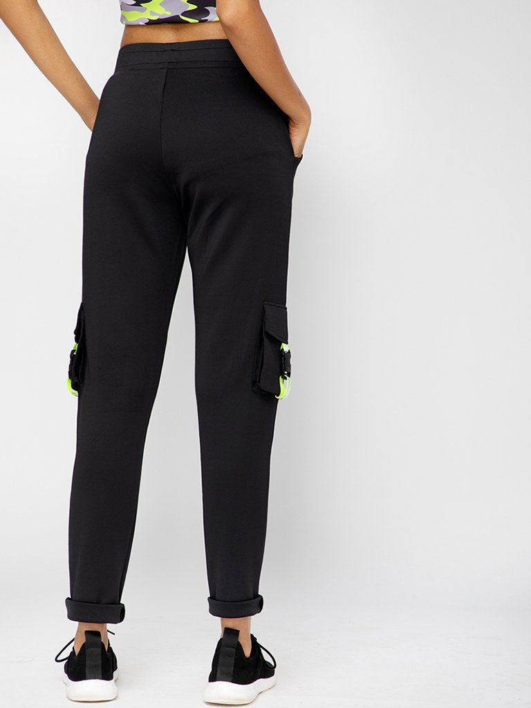 Black Regular Fit Track Pants