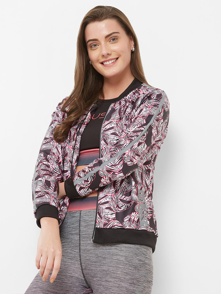 ALL OVER PRINTED BOMBER JACKET