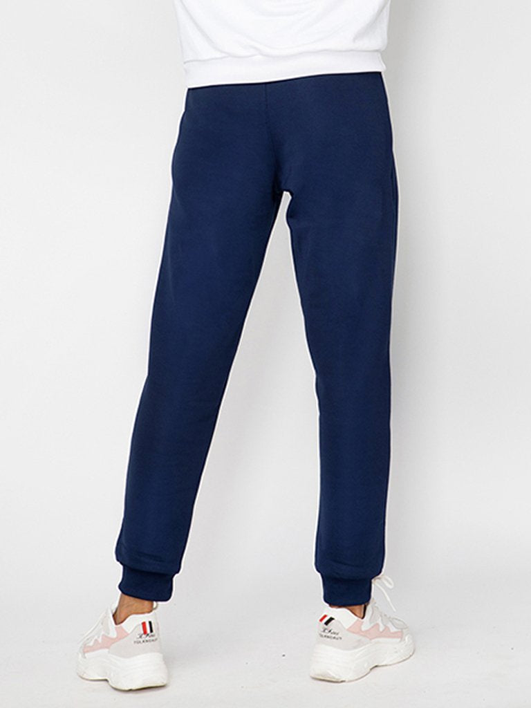 Navy Joggers with Drawstring