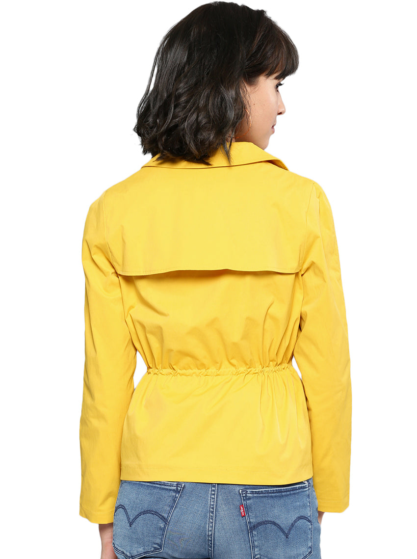 Yellow Solid Tailored Jacket
