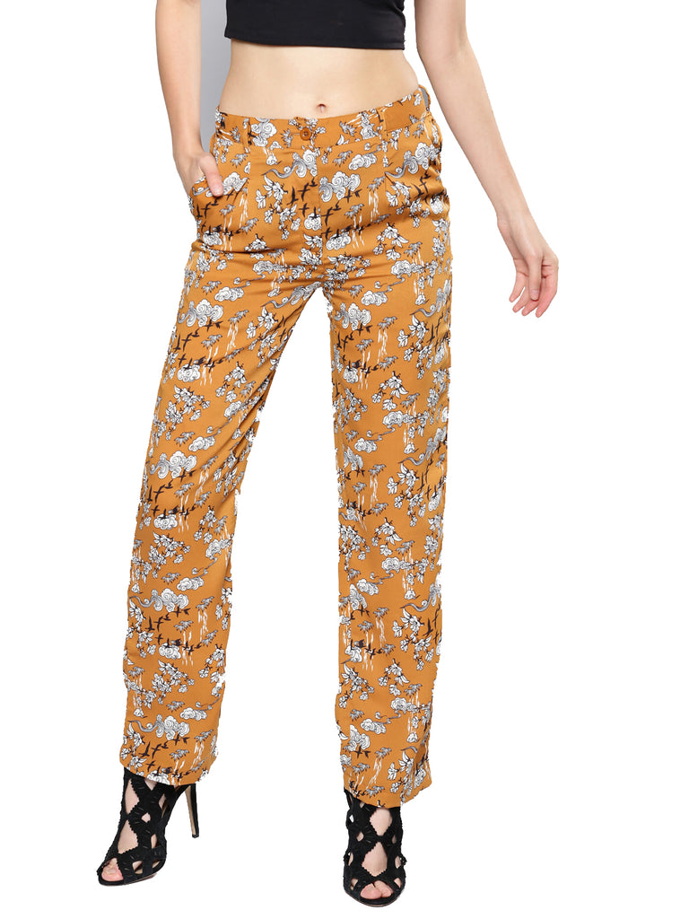 Printed Relaxed Fit Parallel Trousers
