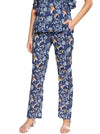 Blue Regular Fit Printed Regular Trousers