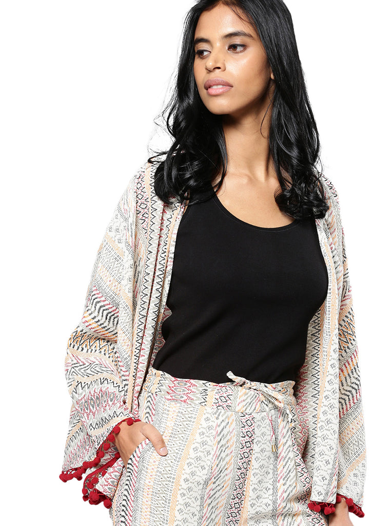 Tassel lace shrug