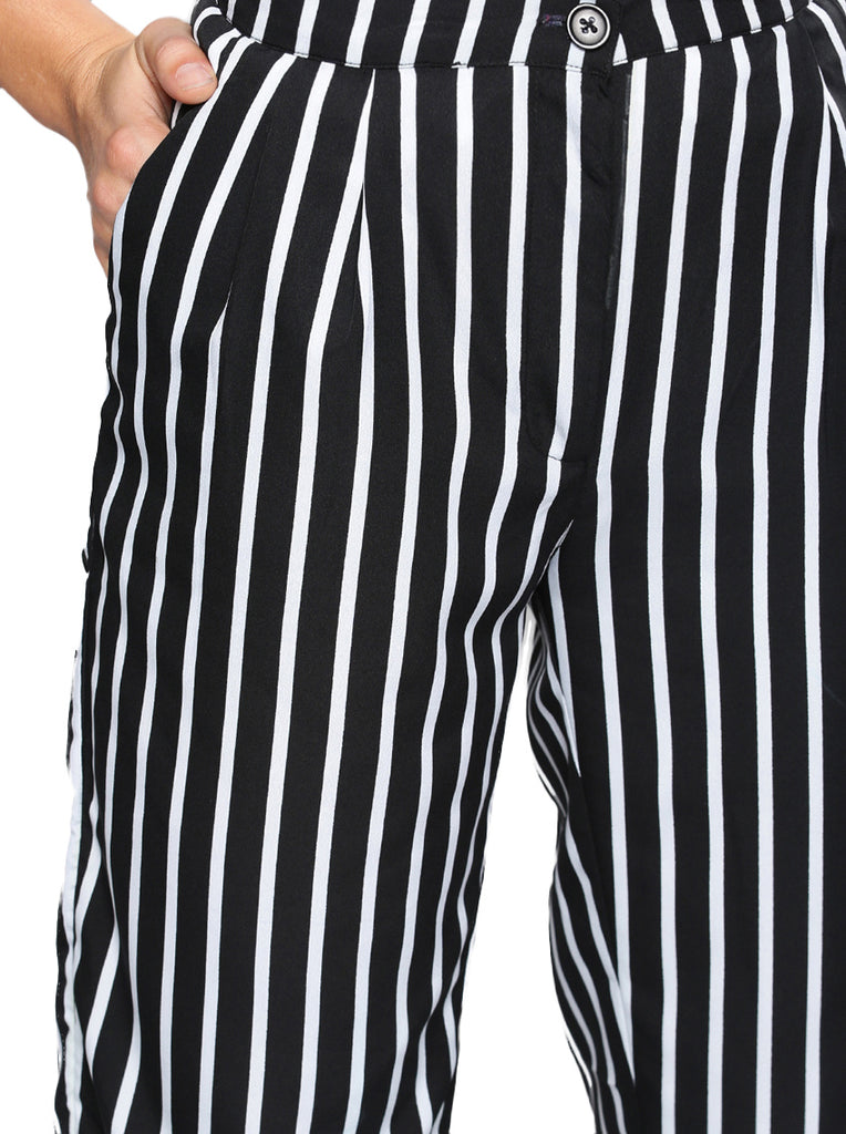 striped highwaisted pants